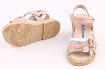 """Freycoo """"Felicity"""" Pink Leather Sandals"""