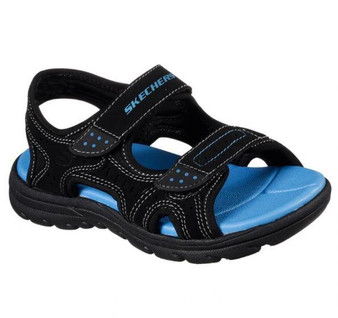 Skechers Supreme summer break black boys kids sandals