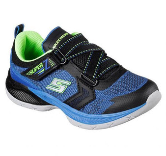 Skechers Lunar Sonic Double Volt Boys Black Sneakers