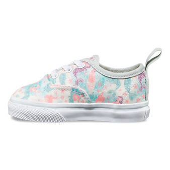 Vans Glitter Mermaid Authentic Elastic Lace Girls Toddler Shoes