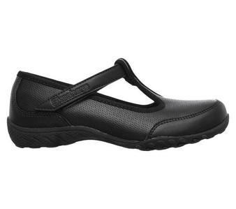 SKechers Breathe Easy Playground Princess Black School Shoes