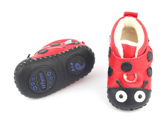 """Freycoo """"Bugs"""" Red Soft Sole Leather Boots"""