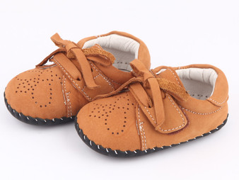 "Freycoo ""Classic"" Caramel Soft Sole Leather Shoes"