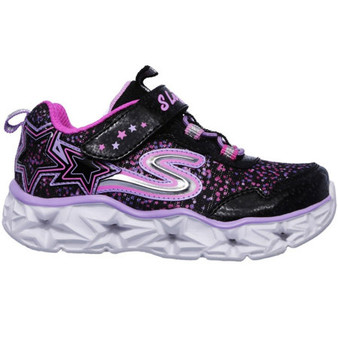 Skechers Galaxy Lights Black Sneakers