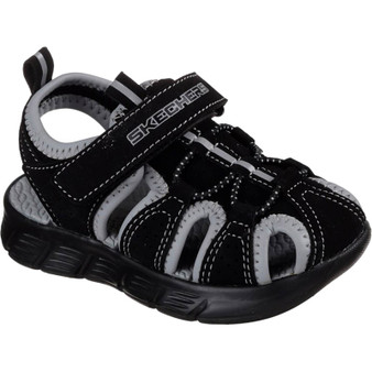 Skechers C-Flex Black boys toddler sandals