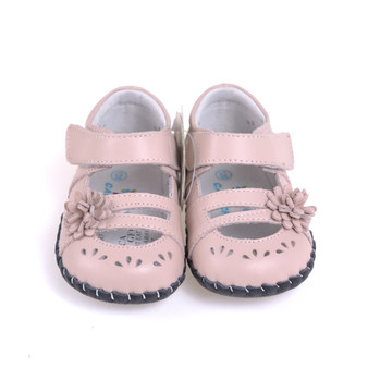 "Caroch ""Lacie"" Pink Leather Soft Sole Shoes"