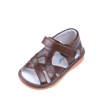 "Caroch ""Nathan"" Brown Leather Sandals"