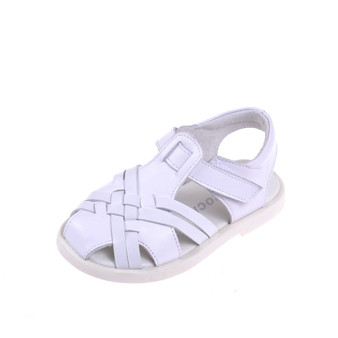 "Caroch ""Kirsty"" White Leather Sandals"