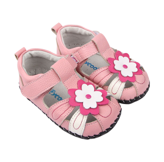 "Pre Order Freycoo ""Sweet Pea"" Pink Leather Soft Sole Shoes"