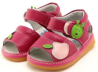 "Pre Order Freycoo ""Apple"" Hot Pink Leather Sandals"