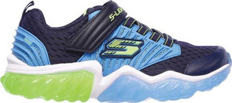 Skechers S Lights Rapid Flash Navy light up boys  Runners