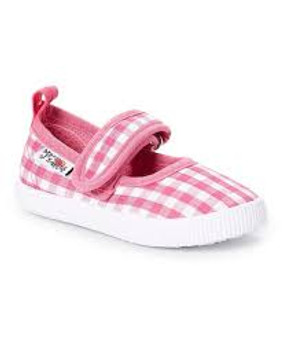 Pink Gingham Mary Janes - Aus 4