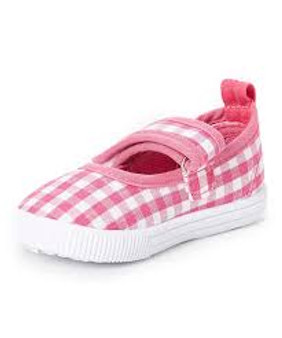 Pink Gingham Mary Janes - Aus 6