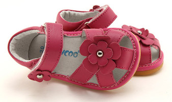 "PO Freycoo ""River"" Hot Pink Leather Sandals"