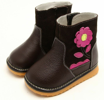"Freycoo ""Grow"" Brown Leather Boots"