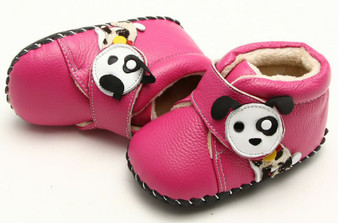 "Freycoo ""Pup"" Hot Pink Soft Sole Leather Shoes"