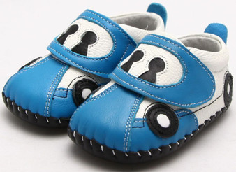 """Freycoo """"Racer"""" Blue Soft Sole Leather Shoes"""
