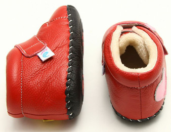 "Freycoo ""Maisie"" Red Soft Sole Leather Boots"