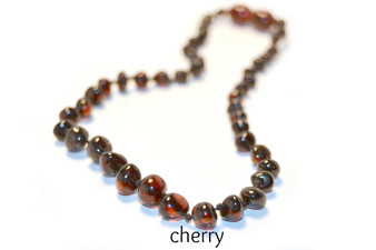 Grace & Favour Baltic Amber Growing Child 38cm Necklace for Ages 5 +