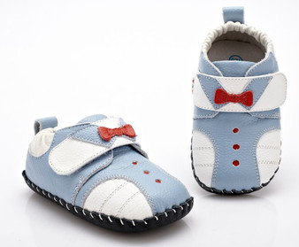 """YXY """"Tux"""" Blue Leather Soft Sole Shoes"""