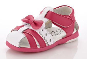 """YXY """"Tiffany"""" Hot Pink Leather Sandals"""