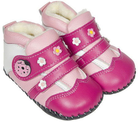 """Freycoo """"Lady Bird"""" Hot Pink Leather Soft Sole Boots"""