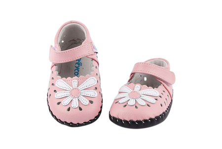 """Freycoo """"Katie"""" Pink Soft Sole Leather Shoes"""
