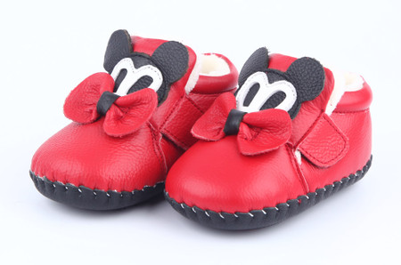 """Freycoo """"Minnie"""" Red Soft Sole Leather Boots"""