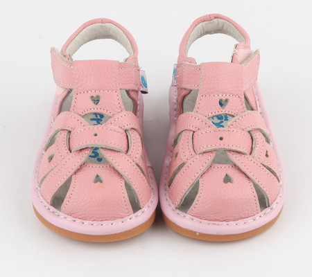 """Freycoo """"Louise"""" Girls Pink Leather Sandals"""