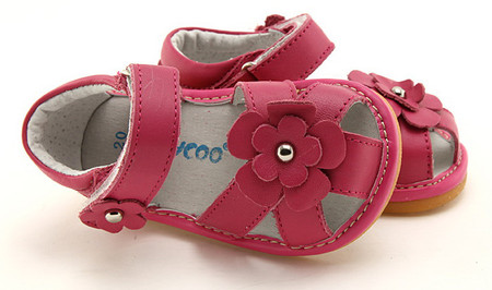 """PO Freycoo """"River"""" Hot Pink Leather Sandals"""