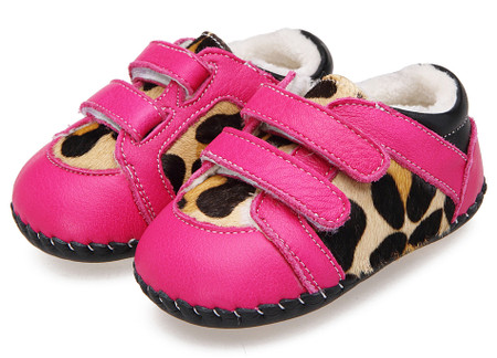 """Caroch """"Jungle"""" Hot Pink Leather Soft Sole Shoes"""
