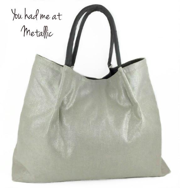 Metallic Silver Handbags