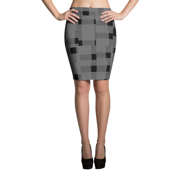 Pencil Skirt BLACK & GRAY