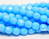 6mm Blue Turquoise Round Fire Polished (300 Pieces)