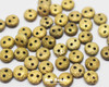 6mm Old Gold Etched 2 Hole Loose Lentils (600 Pieces)