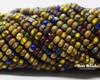 6/0 3 Cut Candy Corn Picasso Striped Mix (1/4 Kilo)