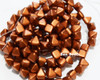 6mm Old Copper 2 Hole Pyramids (150 Pieces)