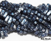 3x6mm Granite Galaxy Lapis 2 Hole Bricks (600 Pieces)