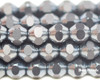 6mm Gunmetal Cut Fire Polished Bicones (300 Pieces)