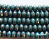 4x7mm Green Turquoise Moondust Rondelles (300 Pieces)