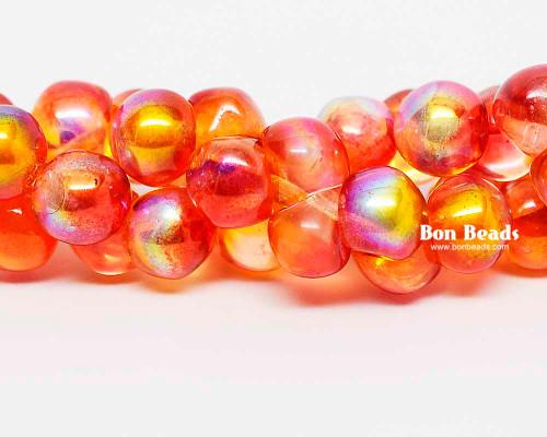 7mm Orange Celestial Wide Cap Mushroom Buttons (150 Pieces)