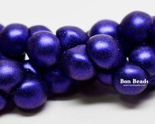 9x8mm Lapis Iris Wide Cap Mushroom Buttons (150 Pieces)