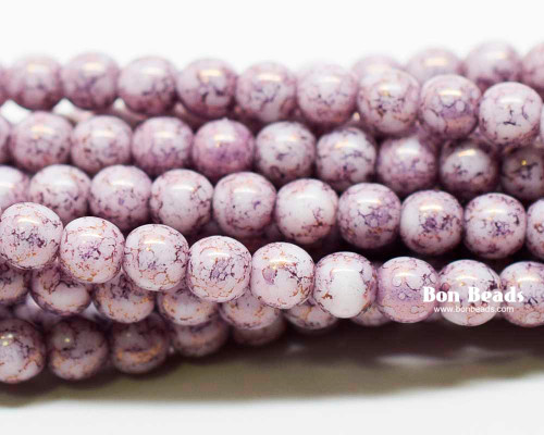 4mm Charoite Smooth Round Druks (600 Pieces)