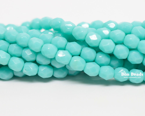 4mm Green Turquoise  Round Fire Polished (600 Pieces)