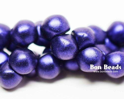 7mm Blue Iris Wide Cap Mushroom Buttons (150 Pieces)