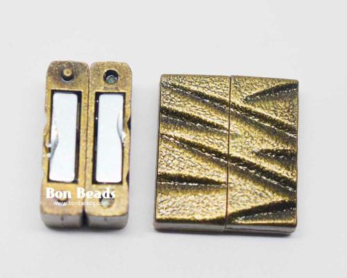 25x22x7mm  Bronze Magnetic Z Bar Clasp (Each)