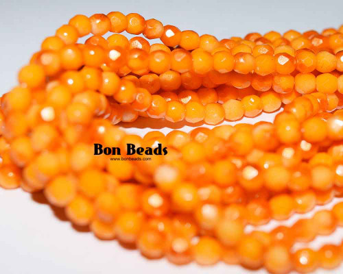 4mm Orange Peppermint Round Fire Polished (600 Pieces)