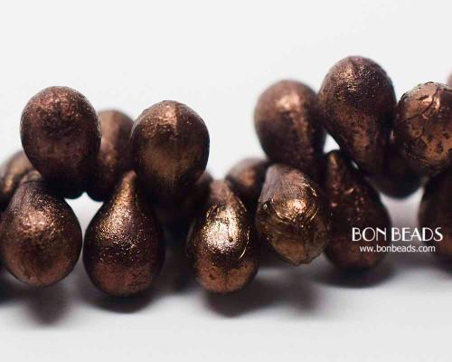 6x9mm Etched Antique Bronze Drops (150 Pieces)