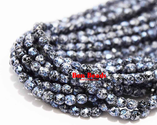4mm Granite Galaxy Lapis Round Fire Polished (600 Pieces)