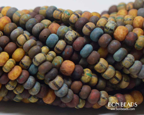 4/0 Aged Rustic Bermuda Striped Picasso Mix (1/4 Kilo)